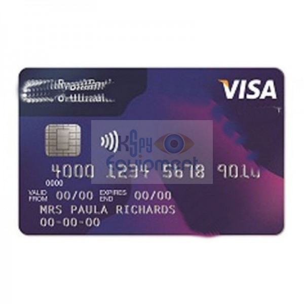 Credit card complete with built in sound recorder