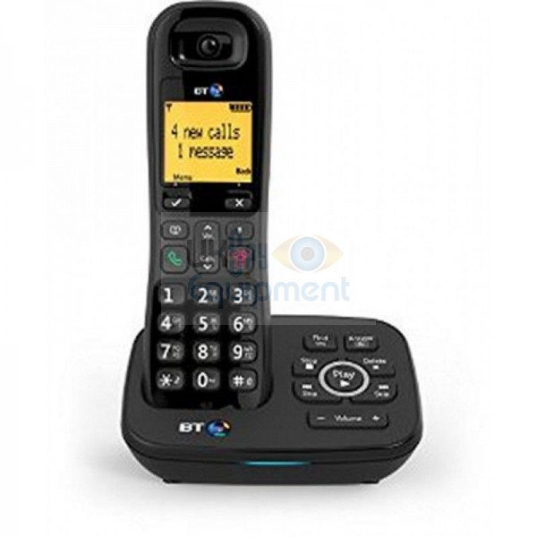 Cordless land line telephone with remote monitoring and recording with auto store and send