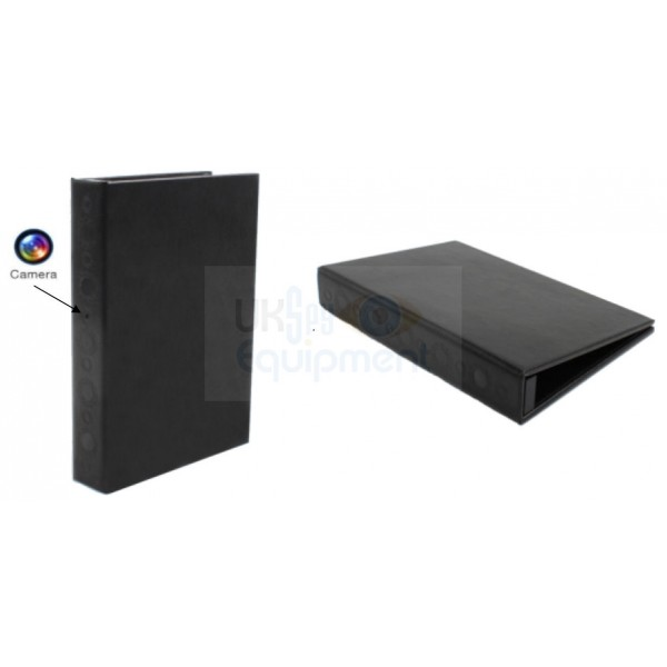Paper work storage folder style binder book complete with hidden covert camera