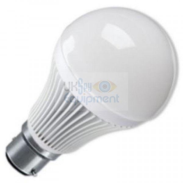 Covert Light Bulb providing invisible light for hidden cameras